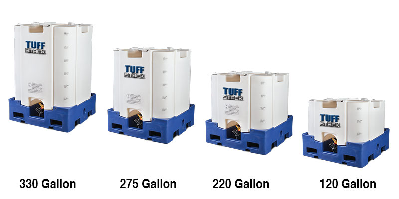 Tuff Stack™ intermediate bulk containers (IBCs) by Elkhart Plastics, Inc. are engineered and manufactured for strength and durability.