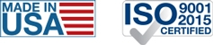 Made in USA | ISO 9001:2015
