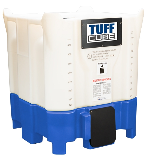 Tuff Cube™ intermediate bulk containers (IBCs) by Elkhart Plastics, Inc. are engineered and manufactured for strength and durability.