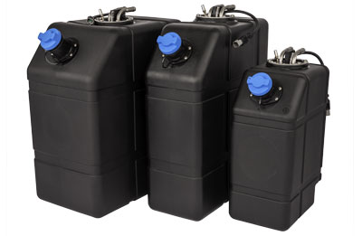 DEF tank sizes in 5, 10, and 15 gallons (portrait)
