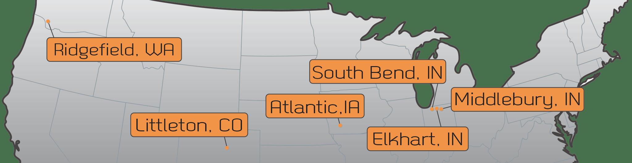 Six Rotomold locations